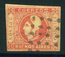 """ARGENTINE (  BUENOS AIRES ) : Y&T  N°  11  """"  FAUX  """"    TIMBRE  OBLITERE . - Buenos Aires (1858-1864)"""