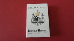 BOITE D ALLUMETTES   CHAMPAGNE BROCHET HERVIEUX  ECUEIL MARNE   ****    A   SAISIR ***** - Matchboxes