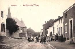 """Lantin - Le Centre Du Village (top """"animation"""", Travaux, Edit. Passenbronder, 1910) - Juprelle"""