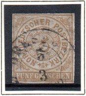 Norddeutscher Postbezirk, Mi-Nr. 6, 5Gr Olivbraun Bis Ockerbraun, Gestempelt - Norddeutscher Postbezirk