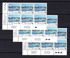 New Zealand 2003 Scenic $1 Coromandel Control Blocks Kiwi Reprints MNH - New Zealand