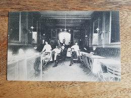 """CP Tournai """"Intérieur Café """"Grand Bock Friture (?)"""" à La Grand-Place - Comptoir Artistique Nelson"""" - Tournai"""