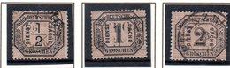 Norddeutscher Postbezirk, Dienstmarken Mi-Nr. 3,4,5,  1/2,1,2 Gr Schwarz/mattorangerot, Gestempelt - Norddeutscher Postbezirk
