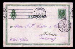 5 Ö. Ganzsache Als Drucksache Ab Kopenhagen Nach DAHOMEY - 1905-12 (Frederik VIII)