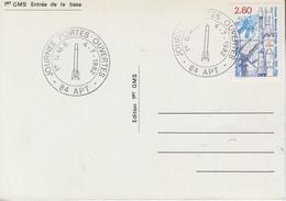 Carte   Journée  PORTES  OUVERTES     1er   G.M.S    APT   1982 - Militaria