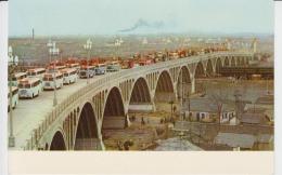 Nanking Nanjing The Yangtse River Bridge, Uncirculated Postcard (ask For Verso/demander Le Verso) Bus Coach - China
