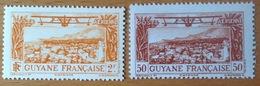 HYDRAVION SEAPLANE AVIATION GUYANE GUYANA PA 14 & PA 20 NEUF** MNH - Airplanes
