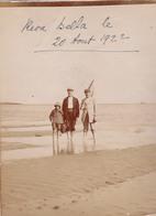 PHOTO ORIGINALE- HAUTE CORSE- REVA BELLA - LA PLAGE- PECHE  DIM9X12 CM - Places