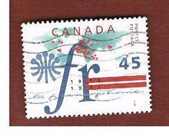 CANADA   -  SG 1671 - 1995 AGENCY FOR COOPERATION       - USATI  (USED)° - 1952-.... Regno Di Elizabeth II
