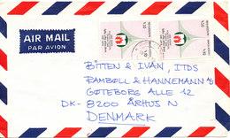 Bangladesh Air Mail Cover Sent To Denmark 10-2-1990 - Bangladesh