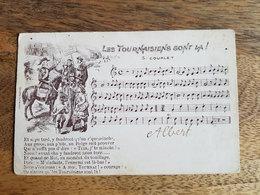 """CP Tournai 1908 """"Les Tournaisiens Sont Là, 5e Couplet - Partition De Chanson Patois"""" - Tournai"""