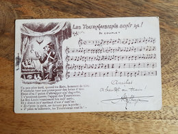 """CP Tournai 1908 """"Les Tournaisiens Sont Là, 3e Couplet - Partition De Chanson Patois"""" - Tournai"""