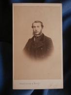 Photo CDV Feulard Au Hâvre - Second Empire Portrait Nuage De Charles Tricot Décédé En 1901 L389 - Photographs