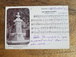 """CP Tournai 1900 """"Les Cheonq Clotiers - Partition De Chanson Patois - Chant Populaire Tournaisien"""" - Tournai"""