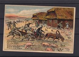 Von Kultur Keine Spur Woman Steht Geht Und Fahrt Bleibt Stecken Mann Und Pferd - Guerre 1914-18