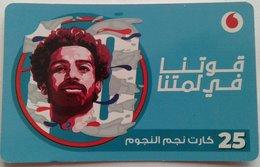 """EGYPT - Egyptian Football Star """"Mohamed Salah"""" 25 L.E, Vodafone , [used] (Egypte) (Egitto) (Ägypten) (Egipto) (Egypten) - Egypt"""