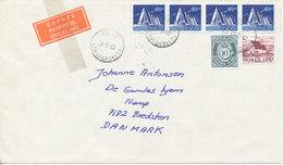 Norway Express Cover Sent To Denmark Oslo Voksenkollen 27-5-1982 - Norway