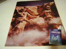 ANCIENNE PUBLICITE CIGARETTE SEITANES BRUNE LEGERE 1979 - Tabac (objets Liés)