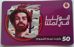"""EGYPT - Egyptian Football Star """"Mohamed Salah"""" 50 L.E, Vodafone , [used] (Egypte) (Egitto) (Ägypten) (Egipto) (Egypten) - Egipto"""