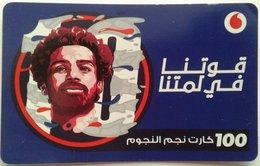 """EGYPT - Egyptian Football Star """"Mohamed Salah"""" 100 L.E, Vodafone , [used] (Egypte) (Egitto) (Ägypten) (Egipto) (Egypten) - Egypt"""