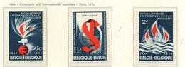 PIA - BEL -  1964 - Centenario Dell' Internazionale Socialista -  (Yv 1290-92) - Belgio