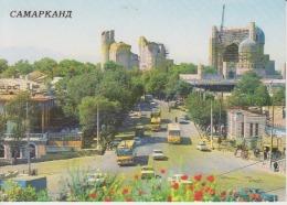 Samarkand Samarqand Uncirculated Postcard (ask For Verso / Demander Le Verso)  Bus Coach - Uzbekistan
