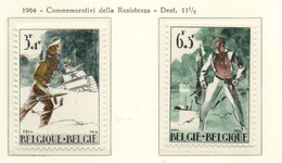 """PIA - BEL -  1964 - Resistenza E Liberazione - Pro """"Centro Inter. Dello Studente"""" -  (Yv 1296-97) - Belgio"""