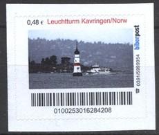 Biber Post Leuchtturm Kavringen / Norwegen (Lighthouse) (48)  G428 - BRD