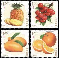 China 2018 2018-18 Special Stamps Fruits Fruit Pineapple Grapes Mango Orange Series No. 3 Plants Food Nature V4 MNH - Fruits