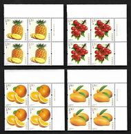 China 2018-18 Block Special Stamps Fruits Fruit Pineapple Grapes Mango Orange Series No. 3 Plants Food Nature MNH - Fruits