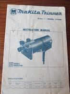 Notice De Fonctionnement - MAKITA TRIMMER . Modèle 3700B - Taille Et Profilage De Bois / Plastique -16 Pages  - 9 Photos - Sciences & Technique