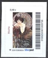 Biber Post Mucha (Gemälde) (48)  G436 - BRD