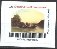 Biber Post Überfahrt Zum Schreckenstein (Gemälde) (48)  G437 - BRD