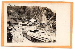 Cerro De Pasco Peru Old Real Photo Postcard - Peru