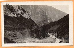 Oroyo Railroad Peru Old Real Photo Postcard - Peru