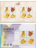 China 2018-18 Sheetlet Special Stamps + Poster Fruits Fruit Pineapple Grapes Mango Orange Series No. 3 Plants MNH Rare - Fruits