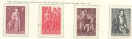 PIA - BEL -  1964 - A Profitto Dell' Opera Nazionale Antitubercolare - Dipinti Di Pittori Belgi -  (Yv 1307-12) - Malattie