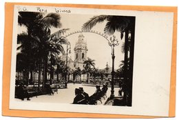 Lima Peru Old Real Photo Postcard - Peru