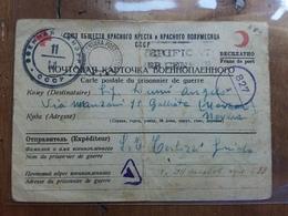REGNO - Posta Per Prigionieri Di Guerra - Cartolina Inviata In Italia Da Prigioniero In Russia (piegata) + Spese Postali - Posta Militare (PM)