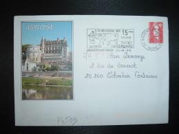 LETTRE Illustrée AMBOISE TP M. DE BRIAT TVP ROUGE OBL.MEC.26-8 1996 36 ARGENTON SUR CREUSE INDRE - Marcophilie (Lettres)