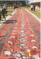 Tonga Nuku'alofa Barkcloth Or Tapa Circulated Postcard (ask For Verso / Demander Le Verso) - Tonga