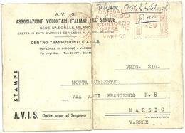 ASSOCIAZIONE  VOLONTARI  SANGUE  --VARESE  OSPEDALE  DEL  CIRCOLO - Croce Rossa