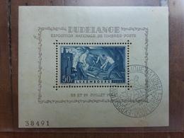LUSSEMBURGO - Expo Filatelica 1946 - BF 6 Timbrato + Spese Postali - Blocchi & Foglietti