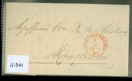 HANDGESCHREVEN Geïllustreerde FACTUUR Uit 1863 Gelopen Van 's-HERTOGENBOSCH Naar MAASTRICHT  (11.301) - Period 1852-1890 (Willem III)