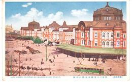 POSTAL   TOKYO  -JAPÒN   - THE TOKYO STATION AT MARUNOUCHI  (ESTACION DE TOKIO EN MARUNOUCHI) - Tokyo