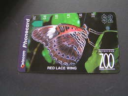 AUSTRALIA Phonecards RED LACE WING Mint .. - Australia