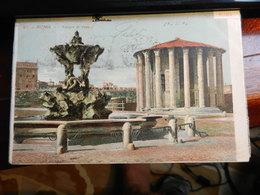 18125) ROMA TEMPIO DI VESTA VIAGGIATA 1904 BEL TIMBRO BANDIERA - Roma
