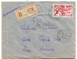 PYRENEES ATLANTIQUES De LES ALDUDES Env. Recom. De 1949 Avec Dateur A 6 - Marcophilie (Lettres)