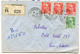 PYRENEES ATLANTIQUES De COARRAZE  Env. Recom. De   1951 Avec Dateur A 6 - Marcophilie (Lettres)