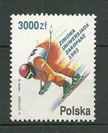 POLAND MNH ** 3226 Ski Skieur En Descente Universiades D'hiver à Zakopane - 1944-.... Republik